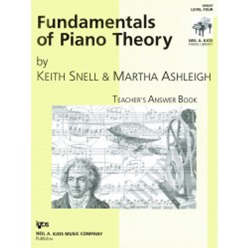 Fundamentals of Piano Theory by Keith Snell - Teacher's Answer Book Level Four