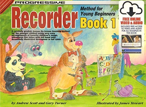 Progressive Recorder Method for Young Beginners Book 1