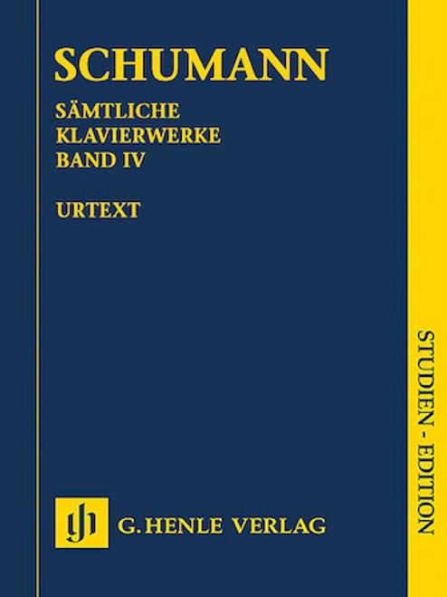 Study Score: Schumann - Complete Piano Works, Vol. 4