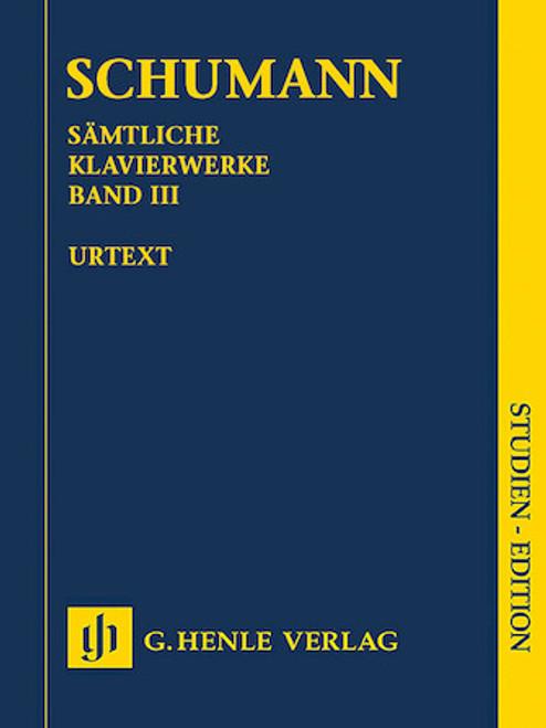 Study Score: Schumann - Complete Piano Works, Vol. 3