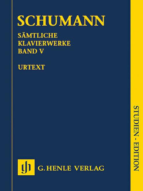 Study Score: Schumann - Complete Piano Works, Vol. 5