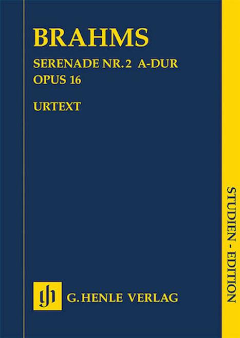 Study Score: Brahms - Serenade No. 2 in D Major, Op. 16