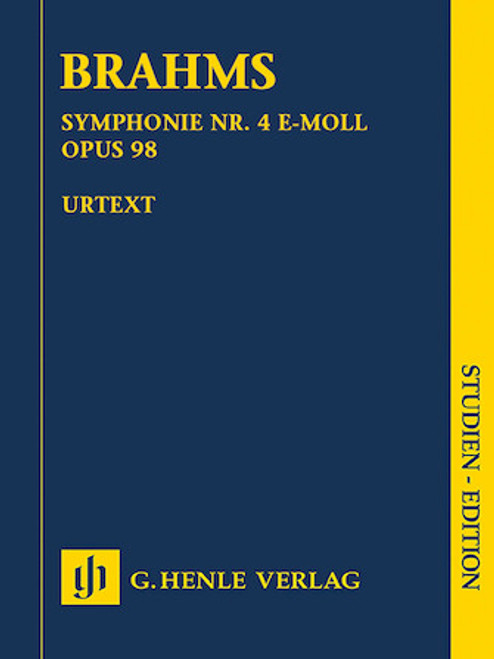 Study Score: Brahms - Symphony No. 4 in E Minor, Op. 98