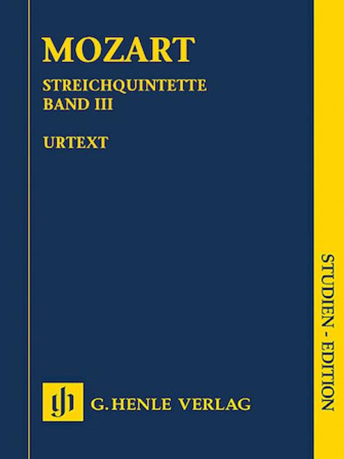 Study Score: Mozart - String Quintents, Vol. 3