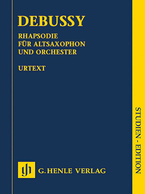 Study Score: Debussy - Rhapsody for Alto Sax and Orchestra