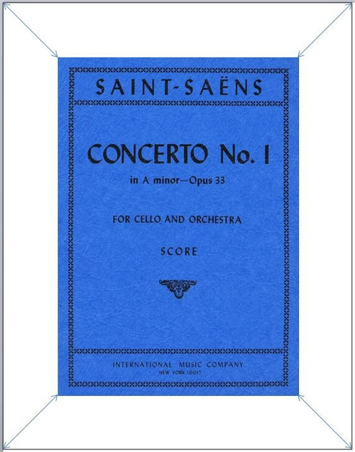 Study Score: Saint - Saëns - Cello Concerto No. 1 in A Minor, Op. 33