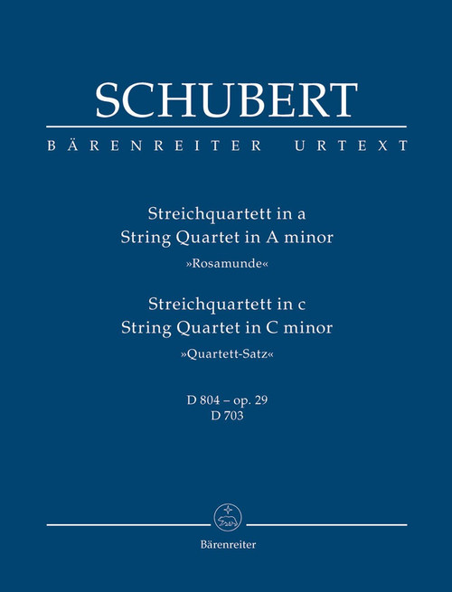Study Score: Schubert - String Quartets in A Minor, C Minor