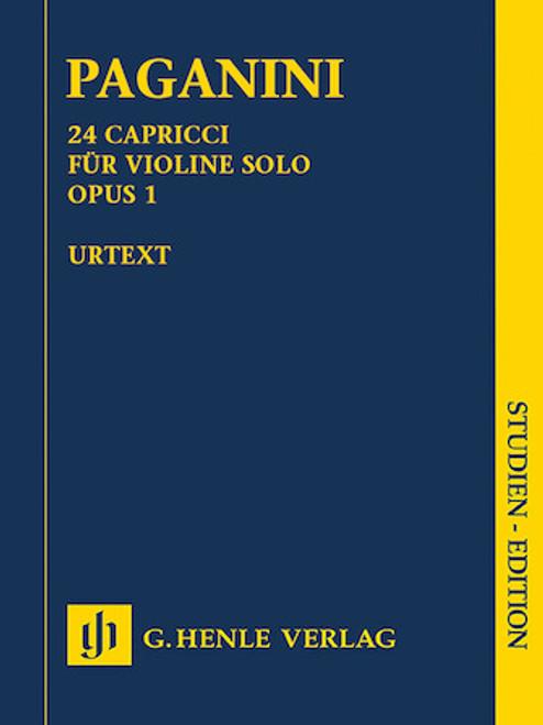 Study Score: Paganini - 24 Capricci for Violin, Op. 1