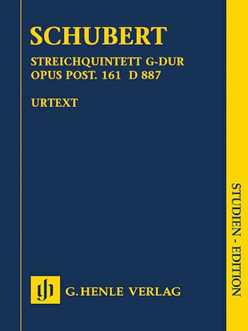 Study Score: Schubert - String Quartet in G Major, Op. Post 161, D 887