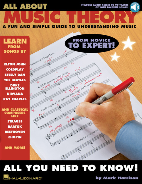 All About Music Theory (A Fun and Simple Guide to Understand Music) By Mark Harrison - Book / Online Audio