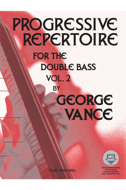 Progressive Repertoire for the Double Bass Vol. 2 by George Vance - Book / Online Audio