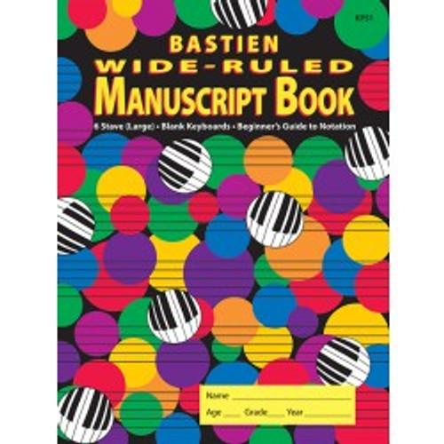 Bastien Wide -Ruled Manuscript Book (KP51)