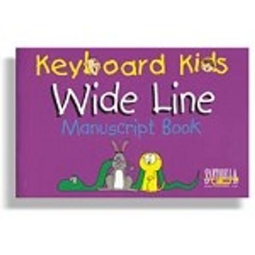 Keyboard Kids Wide Line Manuscript Book