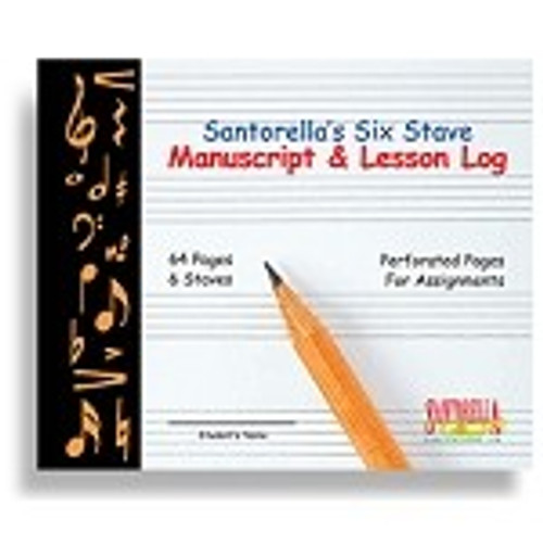 Santorella's Six Stave Manuscript & Lesson Log
