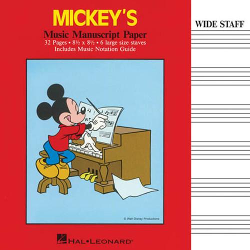 Mickey's Music Manuscript Paper (Wide Staff)