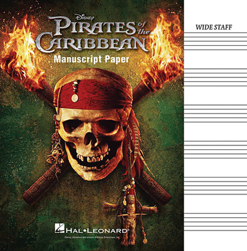 Pirates of the Caribbean Manuscript Paper (Wide Staff)