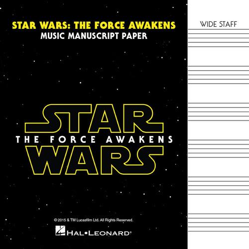 Star Wars: The Force Awakens - Music Manuscript Paper - Wide Staff