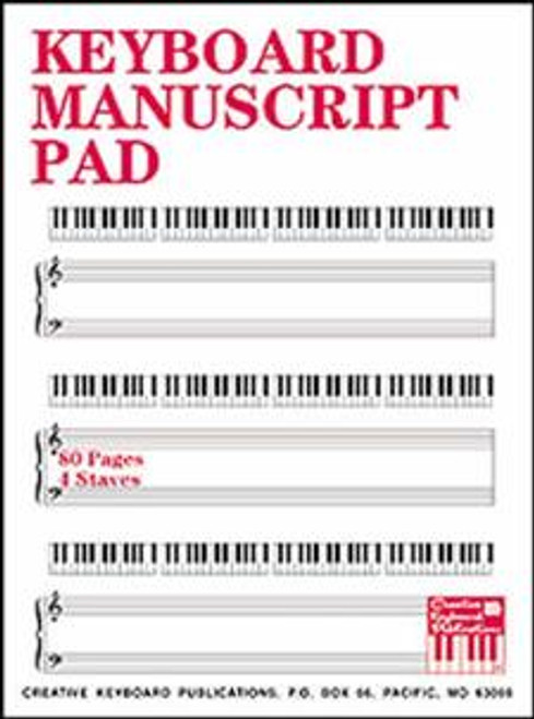 Keyboard Manuscript Pad (80 Pages / 4 Staves)