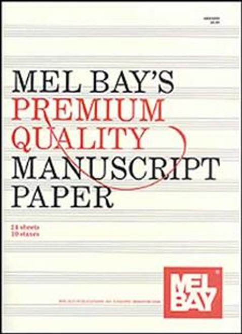 Mel Bay's Premium Quality Manuscript Paper (24 Sheets / 10 Staves)