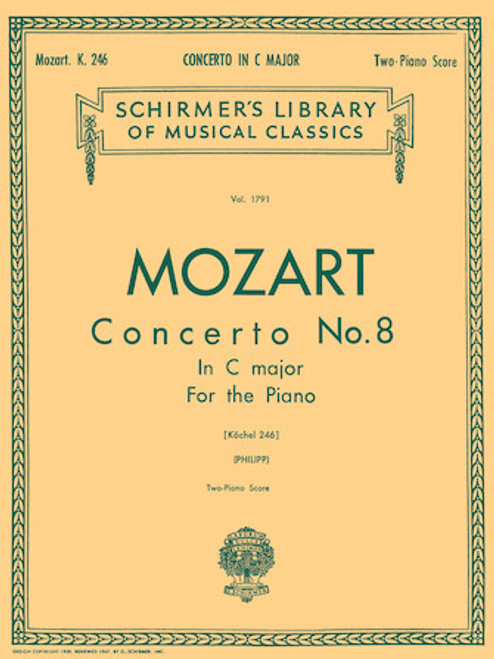 Mozart Concerto No. 8 in C Major - Two Piano Score
