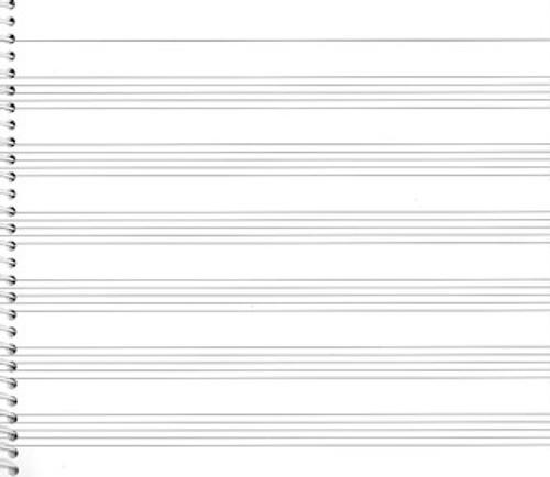 Passantino Manuscript Paper No. 73 - 6 Stave Wide (Spiral Bound)