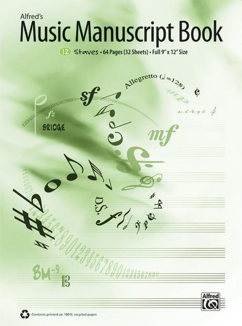 Alfred's Music Manuscript Book - 12 Staff