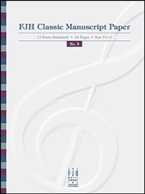 FJH Classic Manuscript Paper - 12 Staff