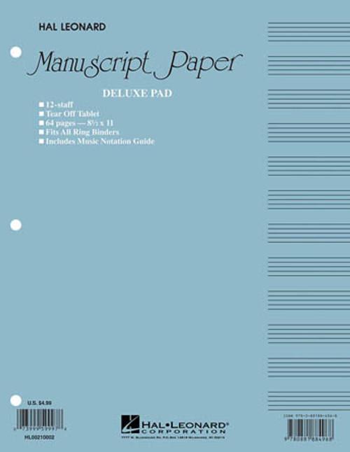Manuscript Paper Deluxe Pad - 12 Staff