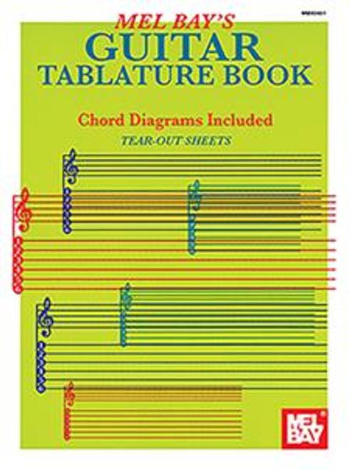 Mel Bay's Guitar Tablature book (Chord Diagrams Included)