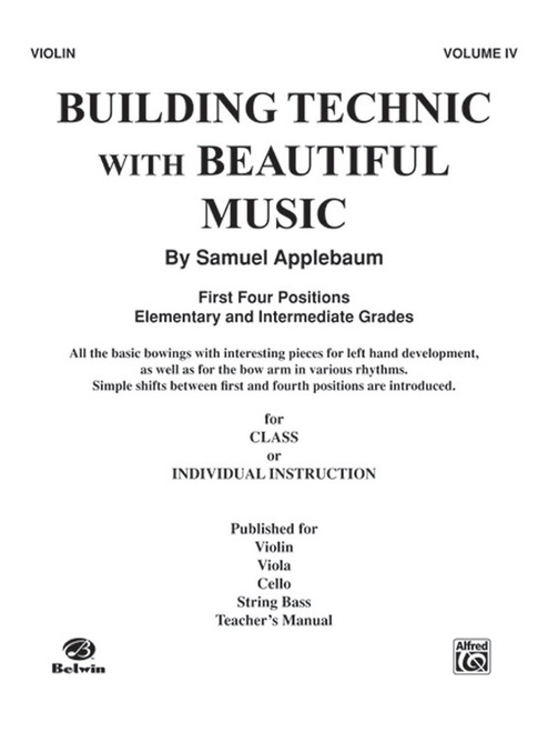 Building Technic With Beautiful Music Book 4 - Violin