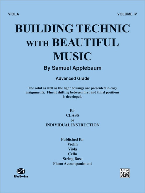 Building Technic With Beautiful Music Book 4 - Viola