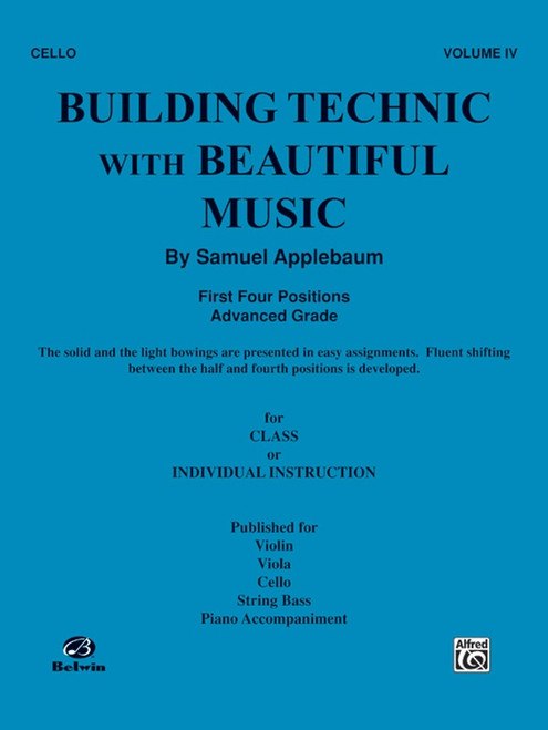 Building Technic With Beautiful Music Book 4 - Cello