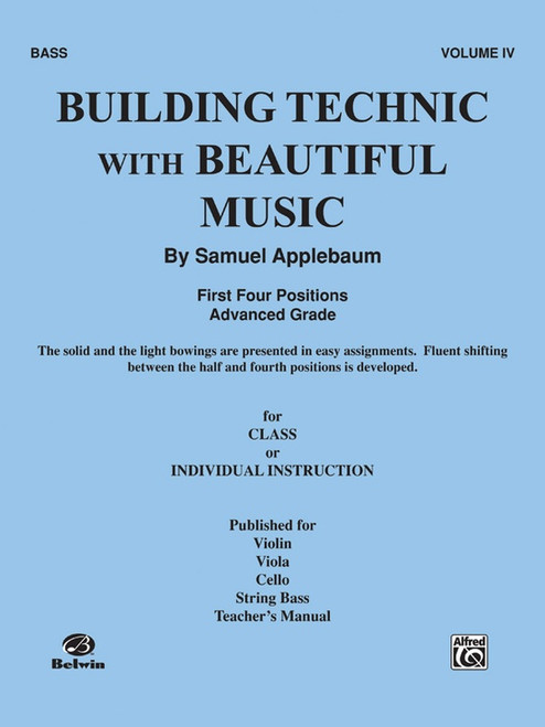 Building Technic With Beautiful Music Book 4 - Bass