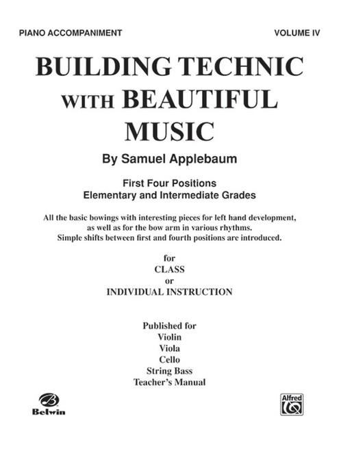 Building Technic With Beautiful Music Book 4 - Piano Accompaniment