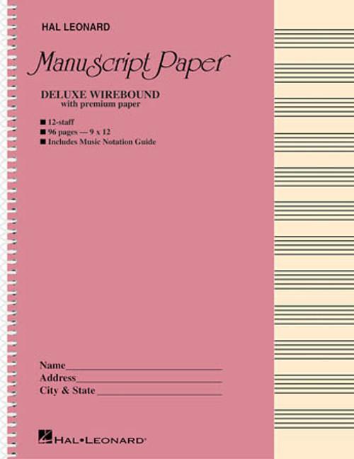 Hal Leonard Premium Manuscript Paper - Deluxe Wirebound (12 Staff)