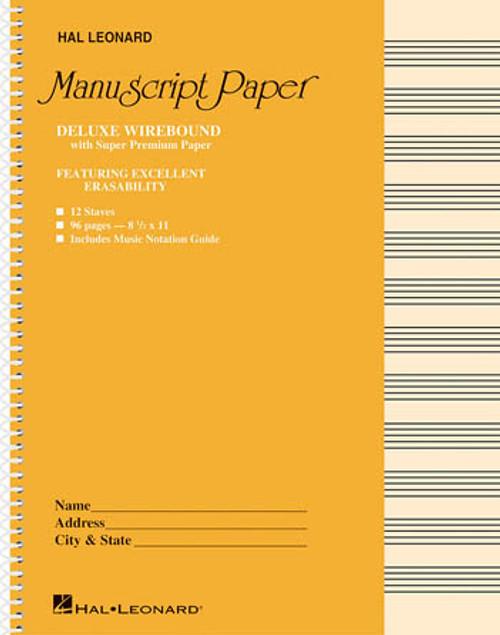 Deluxe Wirebound Super Premium Manuscript Paper (12 Staff)