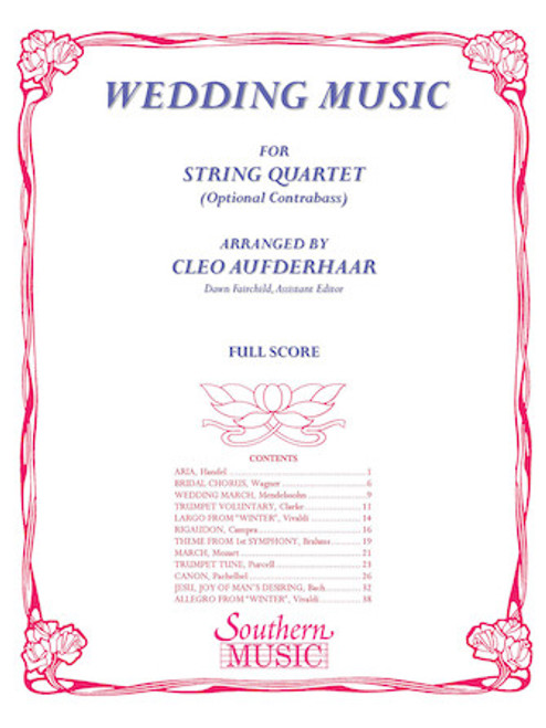WEDDING MUSIC arr. Cleo Aufderhaar (String Quartet)