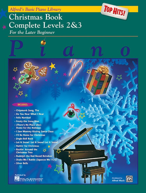 Alfred's Basic Piano Library: Top Hits! Christmas Book Complete Levels 2 & 3