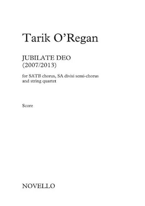 Jubilate Deo (Score) - Tarik O'Regan - SATB