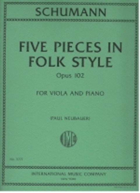 Schumann: Five Pieces in Folk Style - Opus 102 - For Viola and Piano