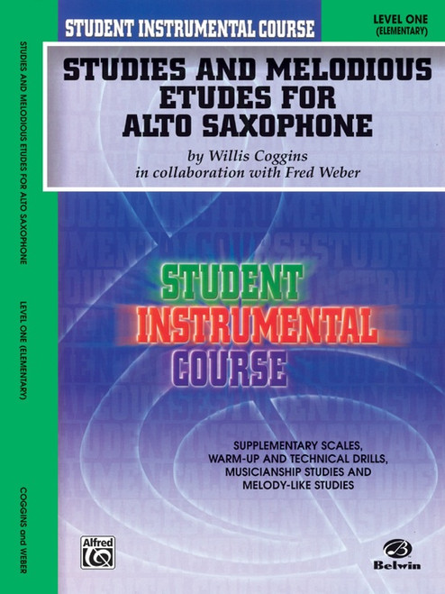 Student Instrumental Course: Studies and Melodious Etudes for Alto Saxophone Level 1