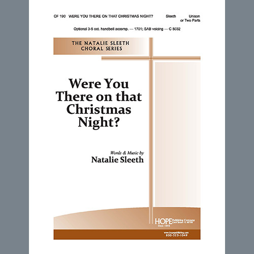 Were You There on that Christmas Night? - Unison or Two Parts