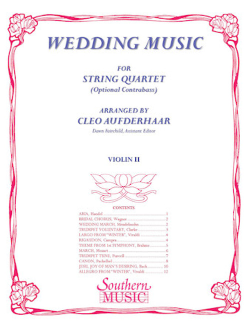 Wedding Music arr. Cleo Aufderhaar (String Quartet) - Violin II