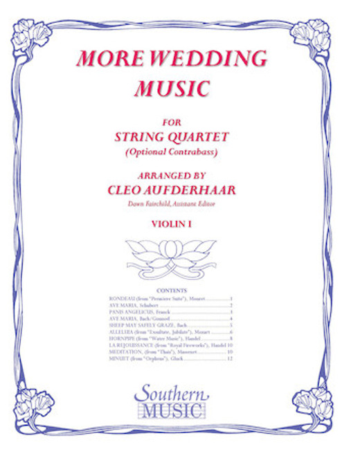 More Wedding Music - arr. Cleo Aufderhaar (String Quartet) - Violin I