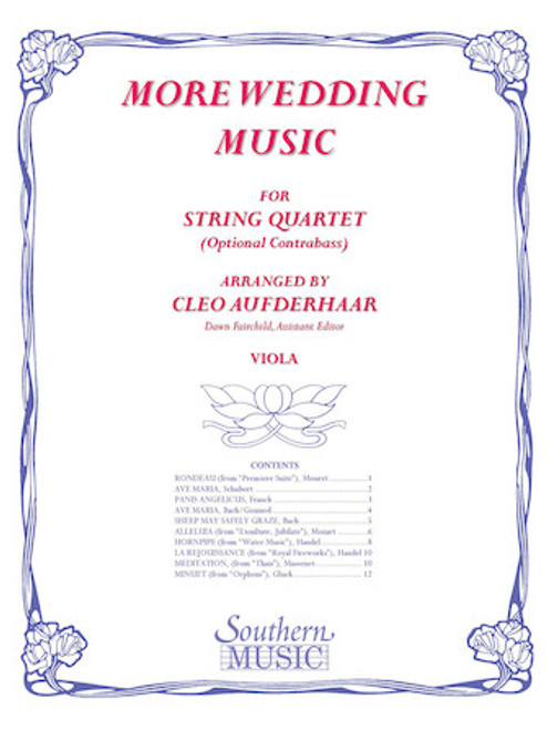 More Wedding Music - arr. Cleo Aufderhaar (String Quartet) - Viola