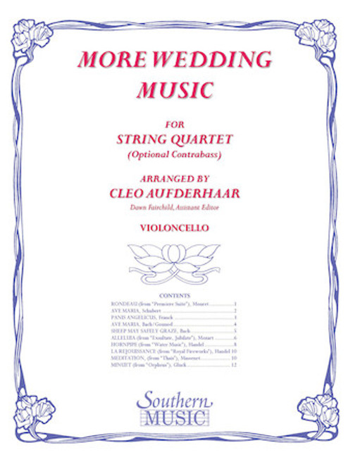 More Wedding Music - arr. Cleo Aufderhaar (String Quartet) - Cello