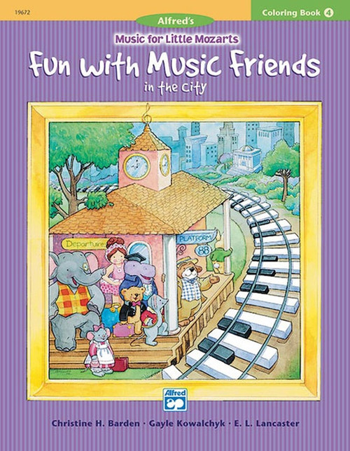 Alfred's Music For Little Mozarts -Fun With Music Friends In the City - Coloring book 4
