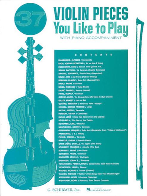 37 Violin Pieces You Like to Play w/ Piano Accompaniment
