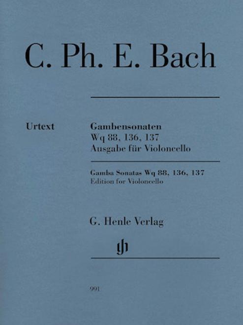 C. Ph. E. Bach - Gamba Sonatas Wq 88, 136, 137 for Violincello