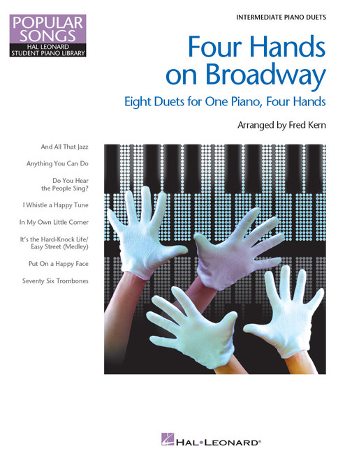 Four Hands on Broadway - Intermediate Piano Duets